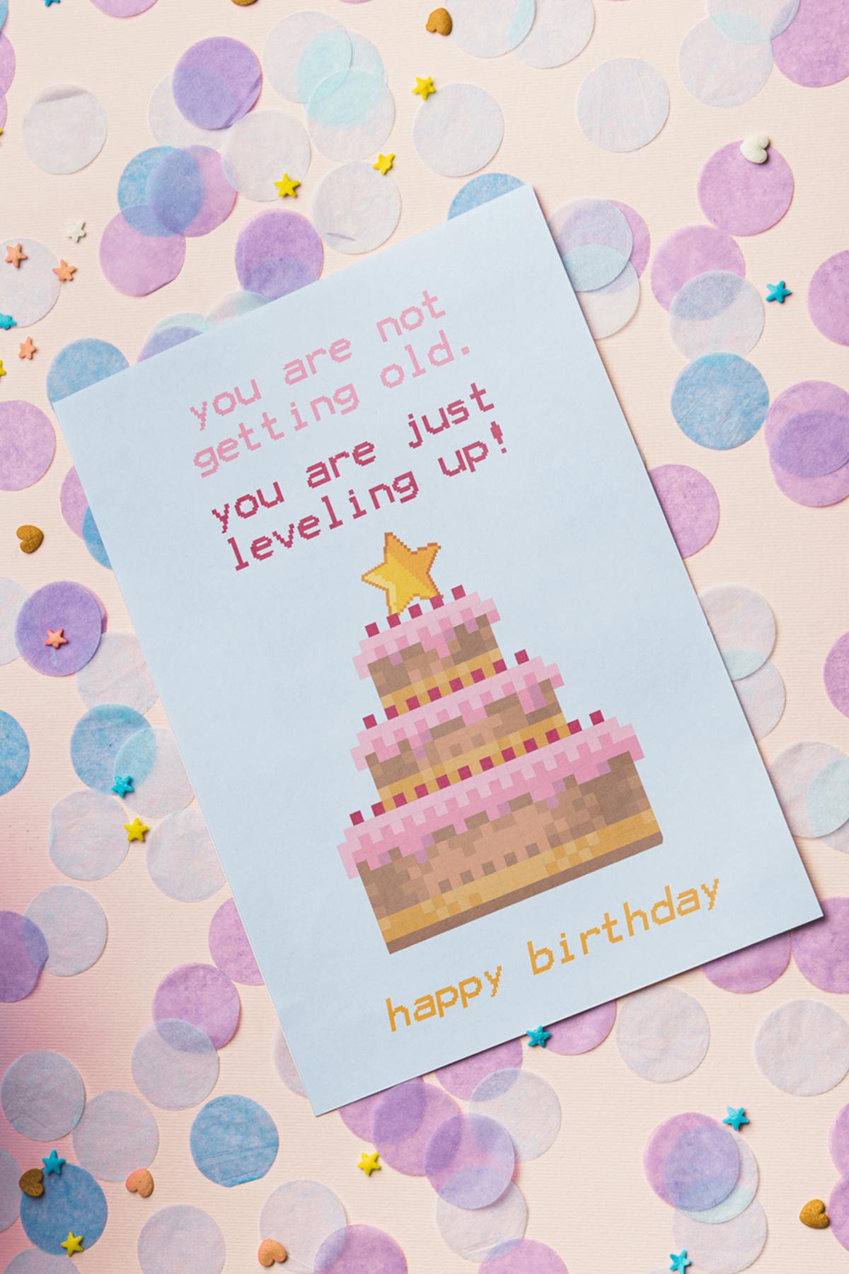 10 Coole Geburtstagskarten Zum Ausdrucken   Free Printable für Geburtstagskarte Selber Drucken