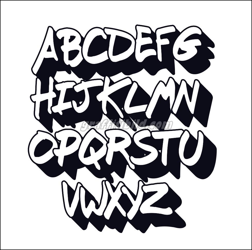 10 Coole Graffiti Abc Buchstaben Ausdrucken Kostenlos in Graffiti Buchstaben Vorlagen A-Z