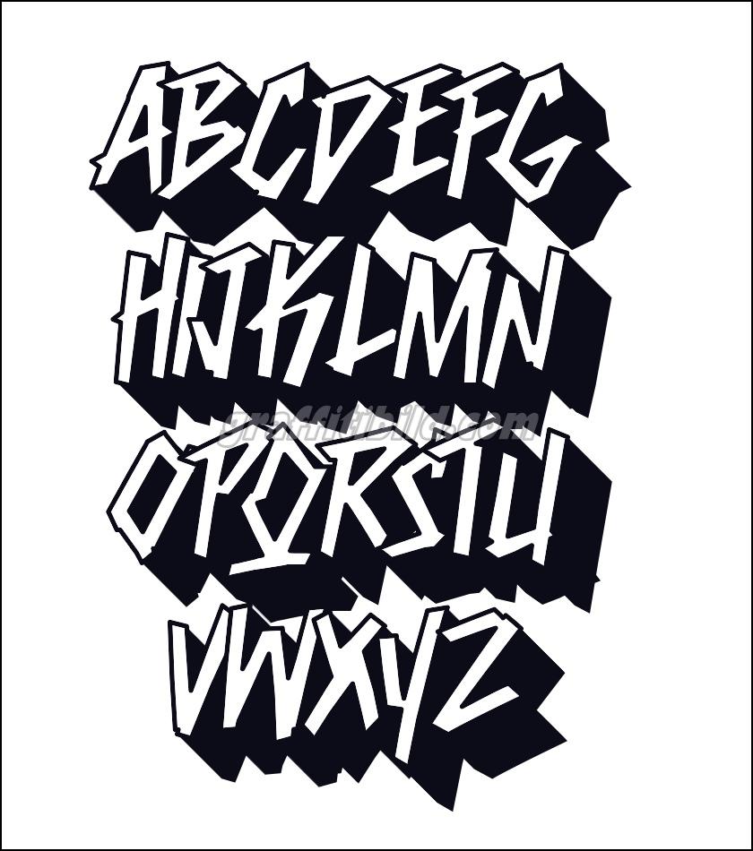 10 Coole Graffiti Abc Buchstaben Ausdrucken Kostenlos innen Graffiti Schriftarten Abc