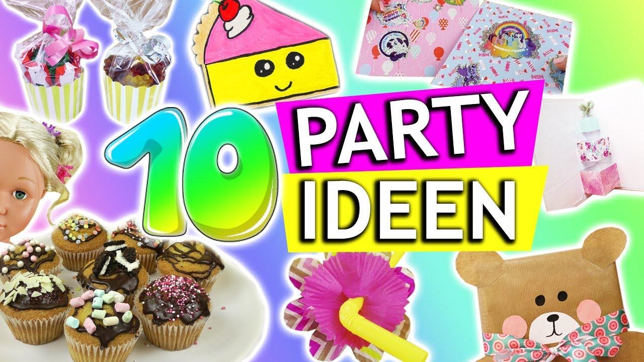 10 Diy Party Ideen | Kindergeburtstag Diys | Geschenkideen Zum Geburtstag |  Party Deko | Diy Kids verwandt mit Bastelideen Kindergeburtstag 10 Jährige