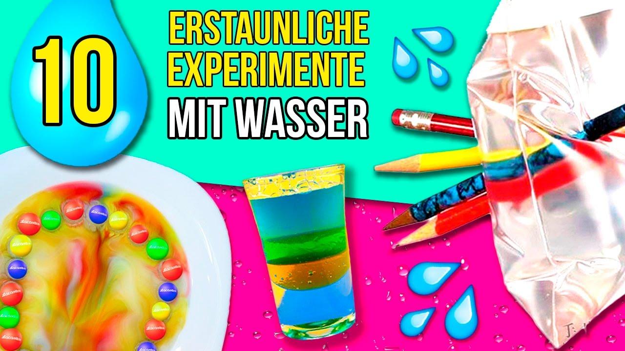 10 Erstaunliche Experimente Mit Wasser * Einfache Experimente Zu Hause  Macht! ganzes Experimente Mit Kindern Wasser