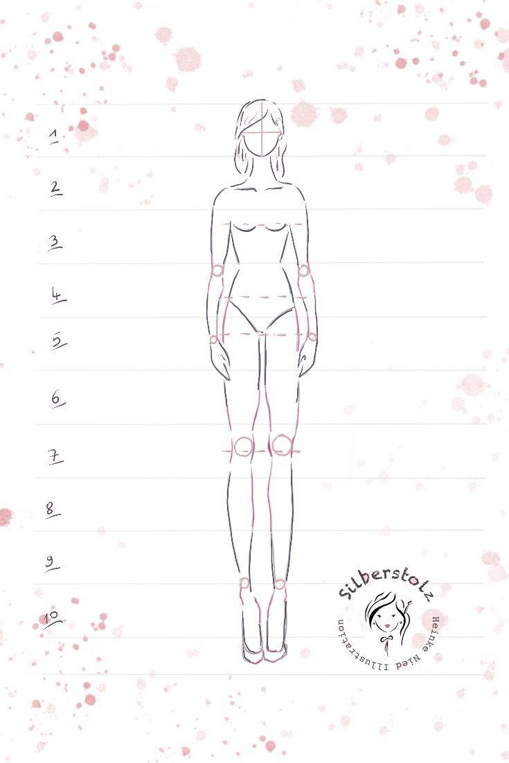 10 Schritte Eine Frauen Figur Zu Zeichnen!frauenfigur in Menschen Malen Lernen