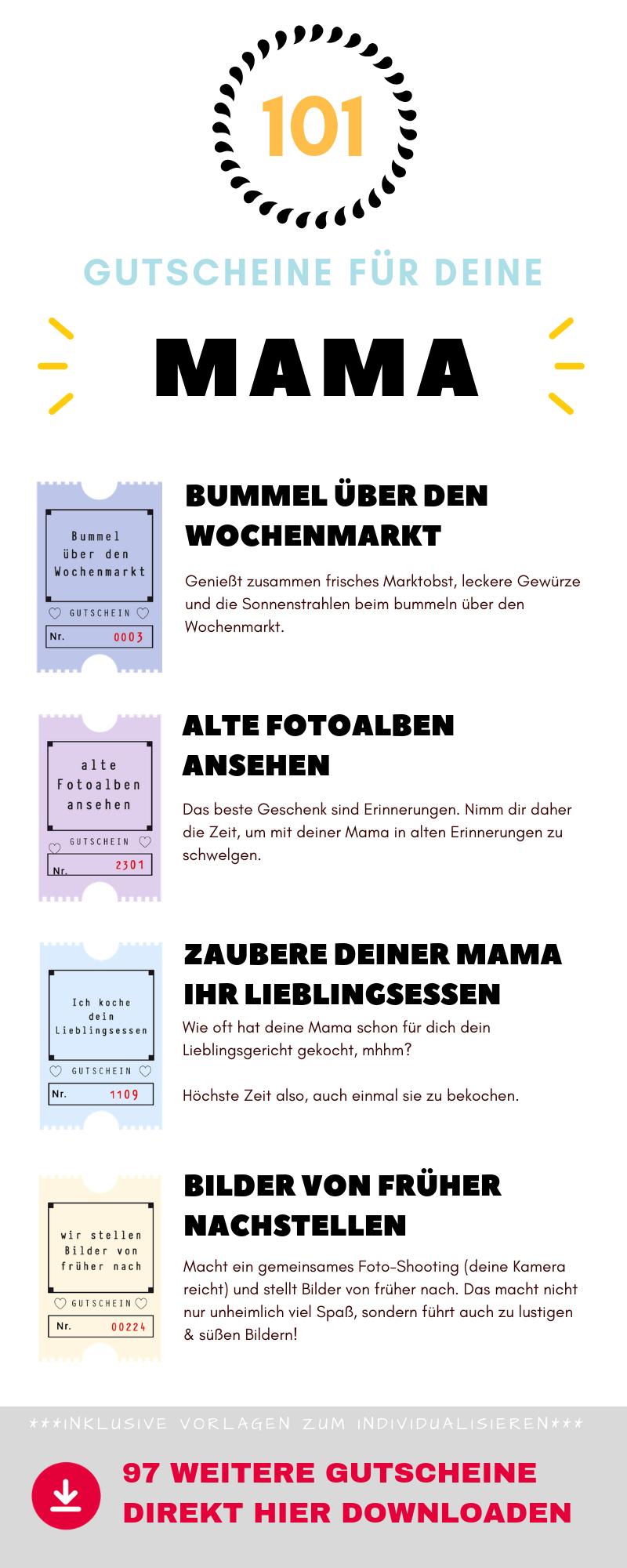 101 Gutscheine Für Deinen Mama - Ideen, Vorlagen Und Tipps