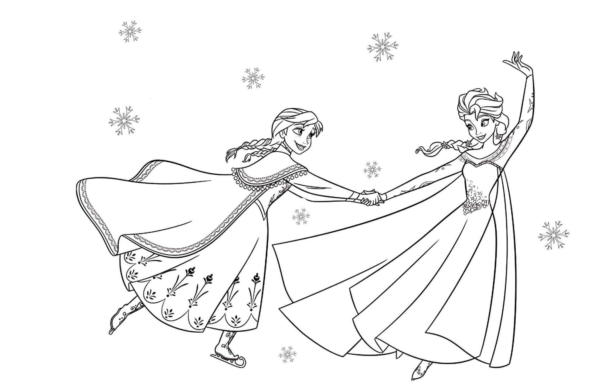 13 Beste Ausmalbilder Elsa Zum Ausdrucken Kostenlos (Mit über Ausmalbilder Anna Und Elsa