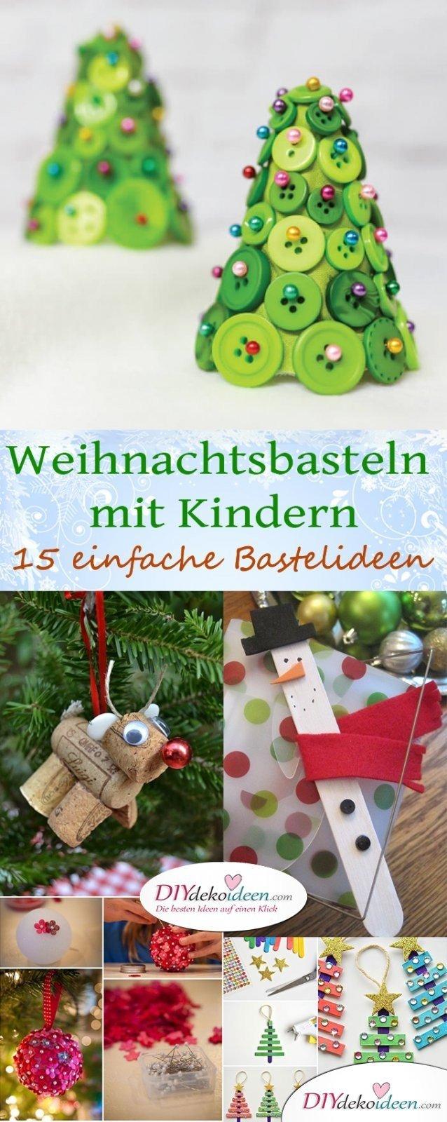 15 Einfache Diy Bastelideen Fürs Weihnachtsbasteln Mit Kindern mit Weihnachtsbasteln Mit Kindern Grundschule