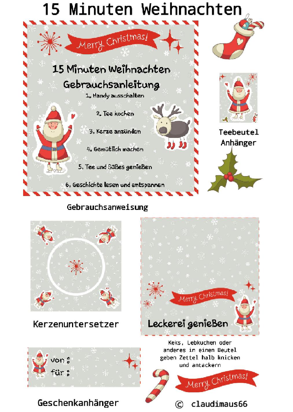 15 Minuten Weihnachten | 15 Minuten Weihnachten, Geschenke mit 15 Minuten Weihnachten Geschichte Zum Ausdrucken