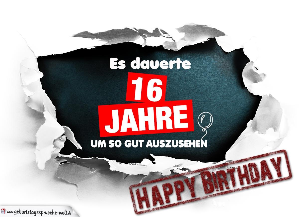 16. Geburtstag Lustige Geburtstagskarte Kostenlos für Sprüche Zum 16 Geburtstag Witzig Kurz