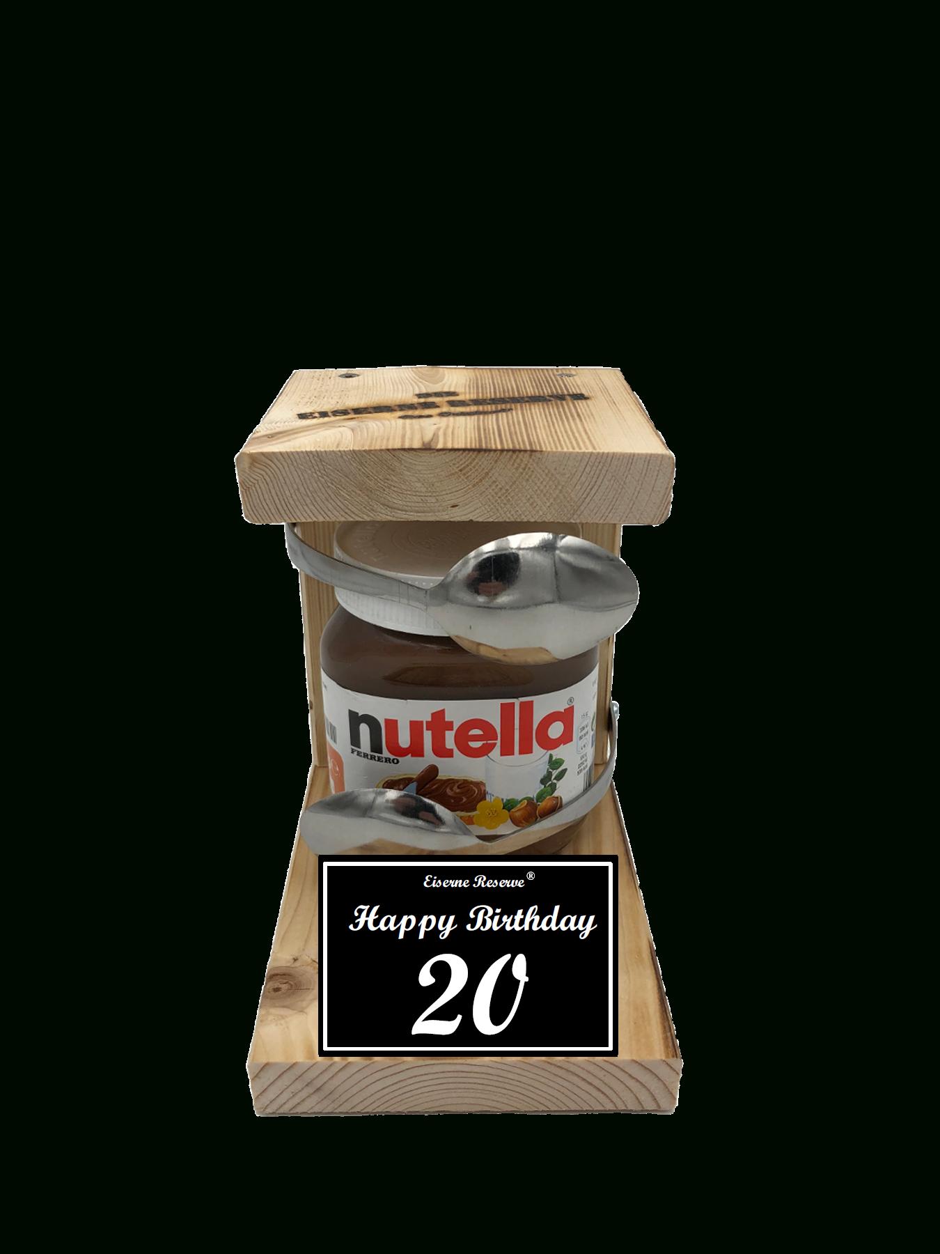 20 Happy Birthday Löffel Nutella Geschenk - Die Nutella Geschenkidee verwandt mit Lustige Geschenke Zum 20 Geburtstag Selber Machen