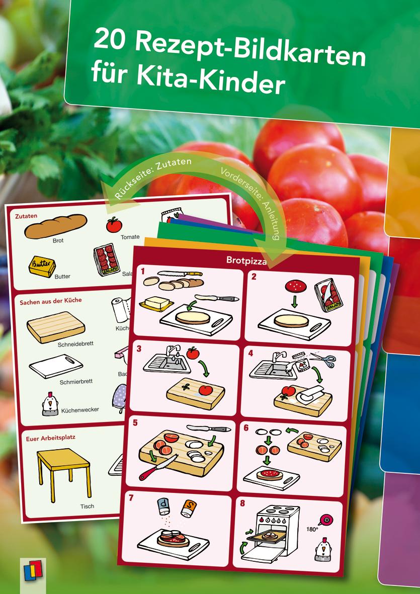 20 Rezept-Bildkarten Für Kita-Kinder   Kinder Ernährung in Kochen Mit Kindern Im Kindergarten Rezepte