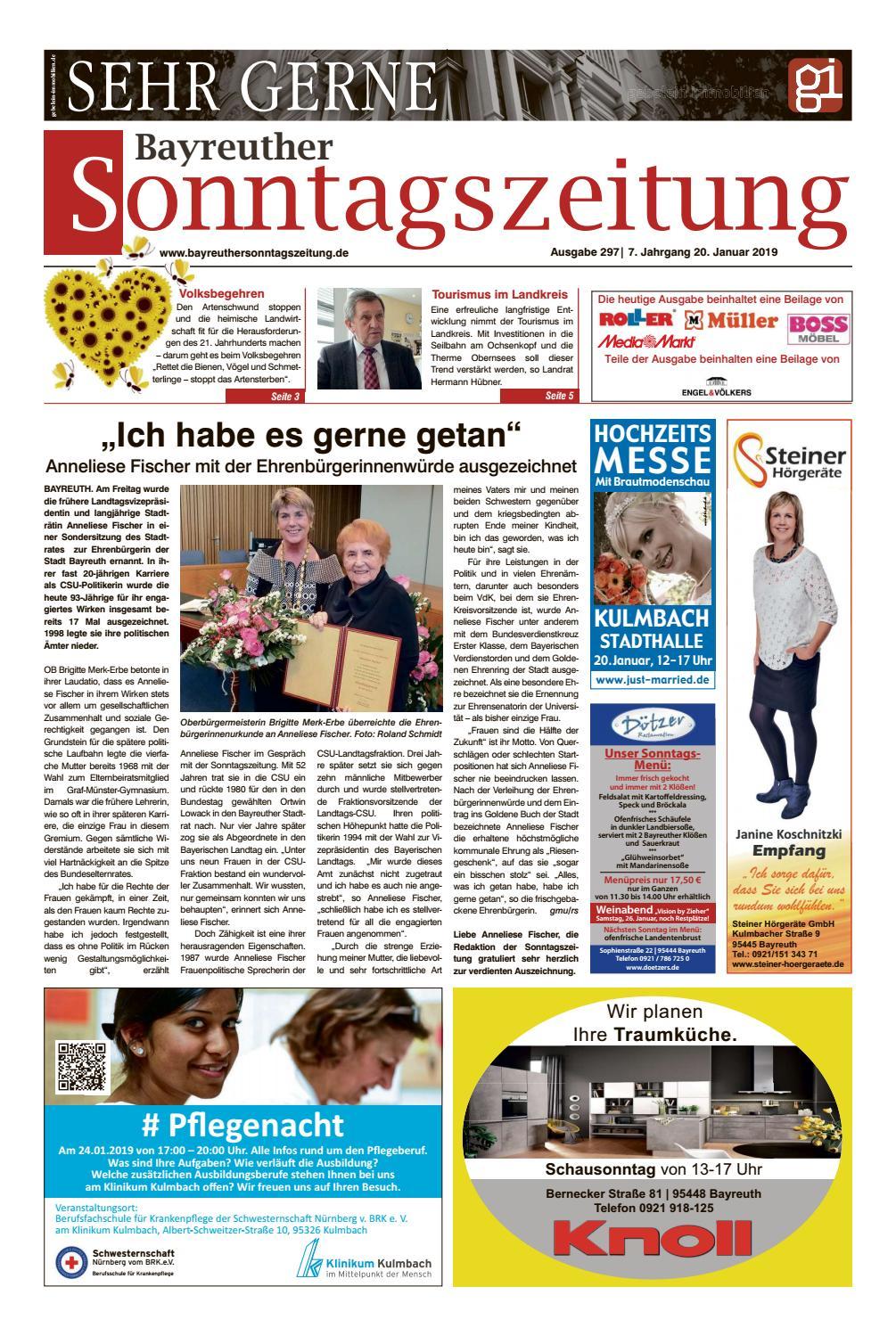 2018-01-20 Bayreuther Sonntagszeitung By Bayreuther verwandt mit Roller Bayreuth Öffnungszeiten