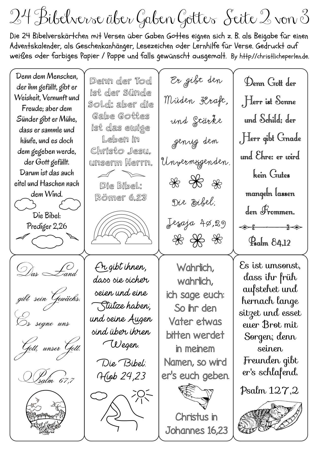 24 Bibelverse Z. B. Für Einen Adventskalender | Christliche bestimmt für 24 Kurze Gedichte Für Adventskalender