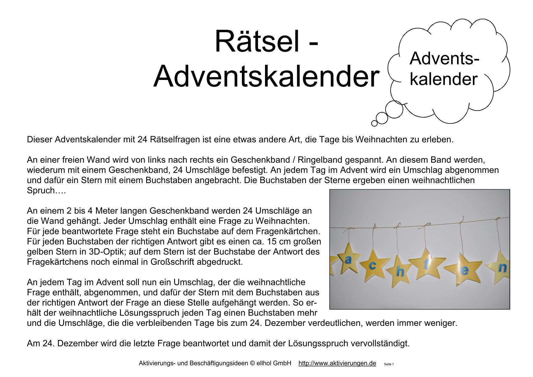 24 Große Gelbe Sterne Für Dem Rätsel-Adventskalender Für bei Adventskalender Rätsel Zum Ausdrucken