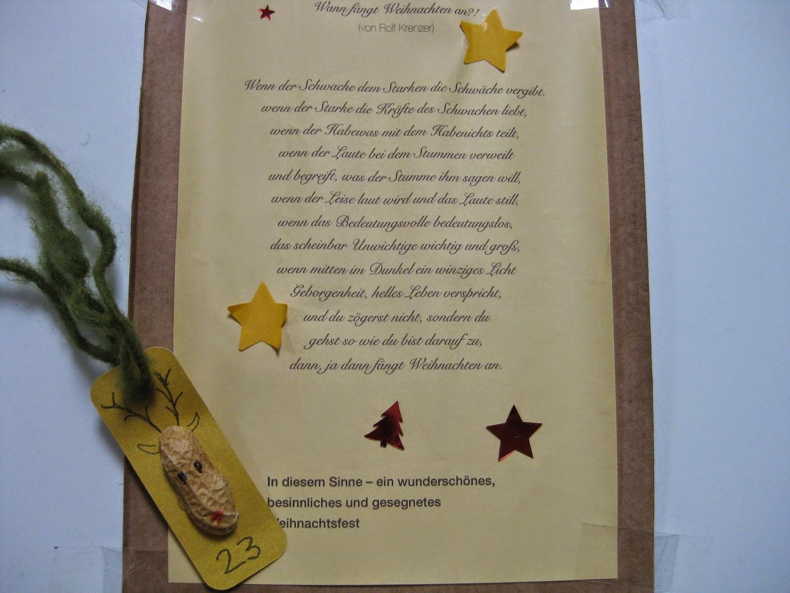 24 Päckchen Unser Adventskalender: 23 für 24 Kurze Gedichte Für Adventskalender