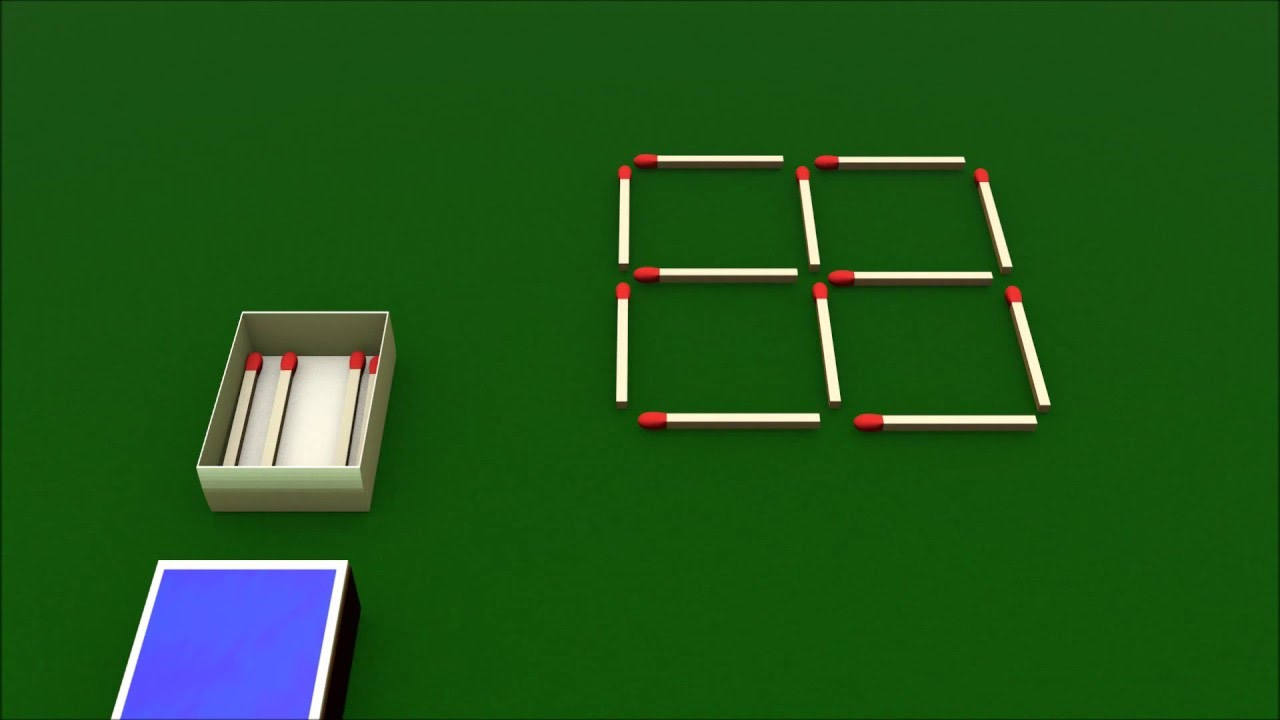 3 Animated Matchstick Puzzles in Streichholzrätsel