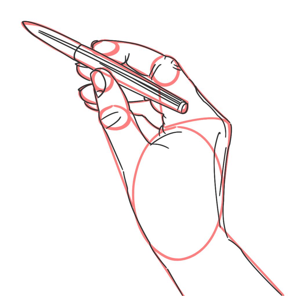 3 Beispiele Wie Du Hände Zeichnen Kannst, Die Einen Stift Halten bei Hände Zeichnen Lernen