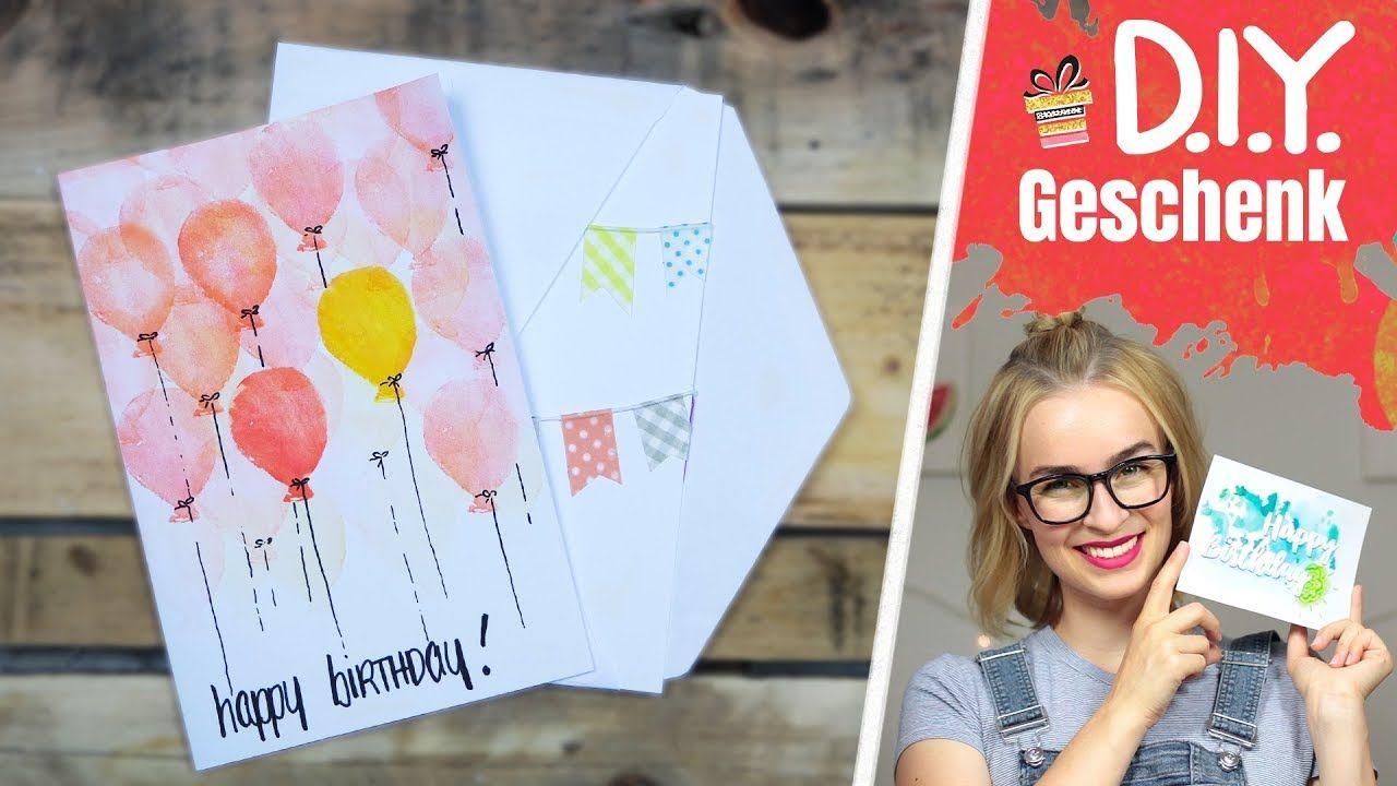 3 Geburtstagskarten Selber Machen - Ideen, Diy, Geschenk innen Geburtstagskarten Ideen