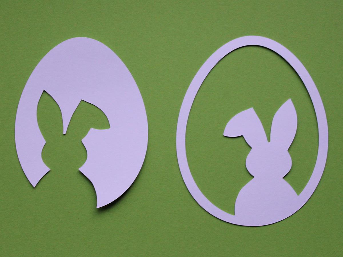 3 Vorlagen Für Schnelle & Schlichte Osterdeko Aus Papier ganzes Osterhasen Vorlagen Zum Ausschneiden