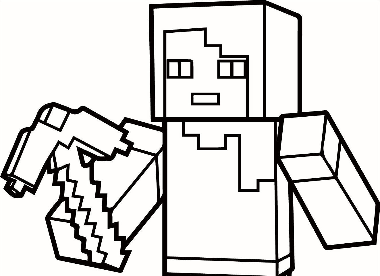 30 Beste Ausmalbilder Minecraft Zum Ausdrucken bestimmt für Minecraft Ausmalbilder Zum Ausdrucken
