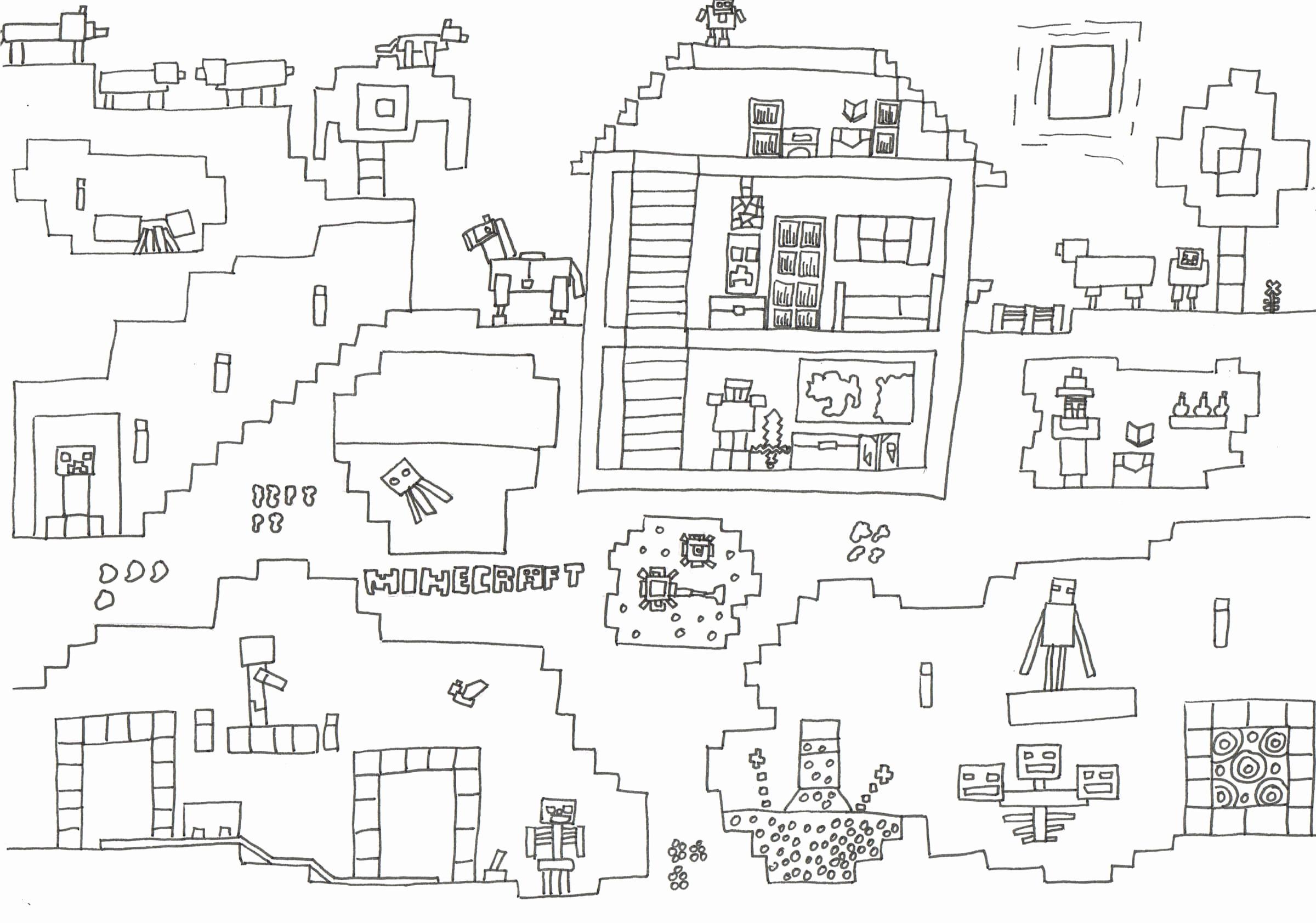 30 Beste Ausmalbilder Minecraft Zum Ausdrucken für Minecraft Ausmalbilder Zum Ausdrucken