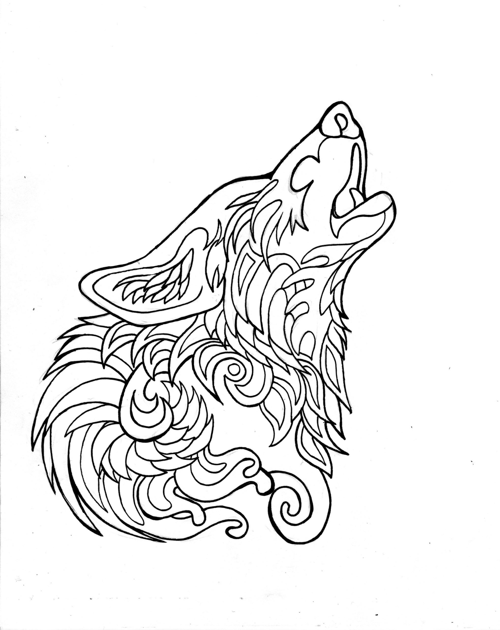 332- Free Howling Wolf Page By Lucky978.deviantart On ganzes Ausmalbilder Wölfe Kostenlos
