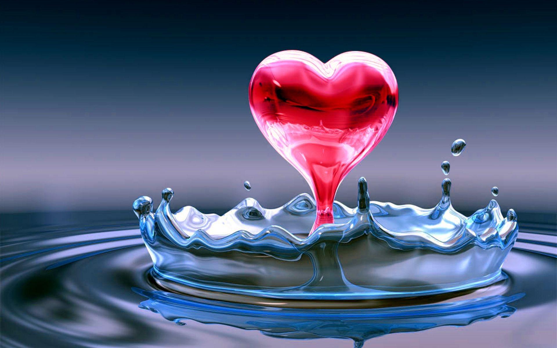 3D Herz Handy Logo, Kostenlose Hintergrundbild Auf Deine Handy in Herz Bilder Kostenlos Herunterladen