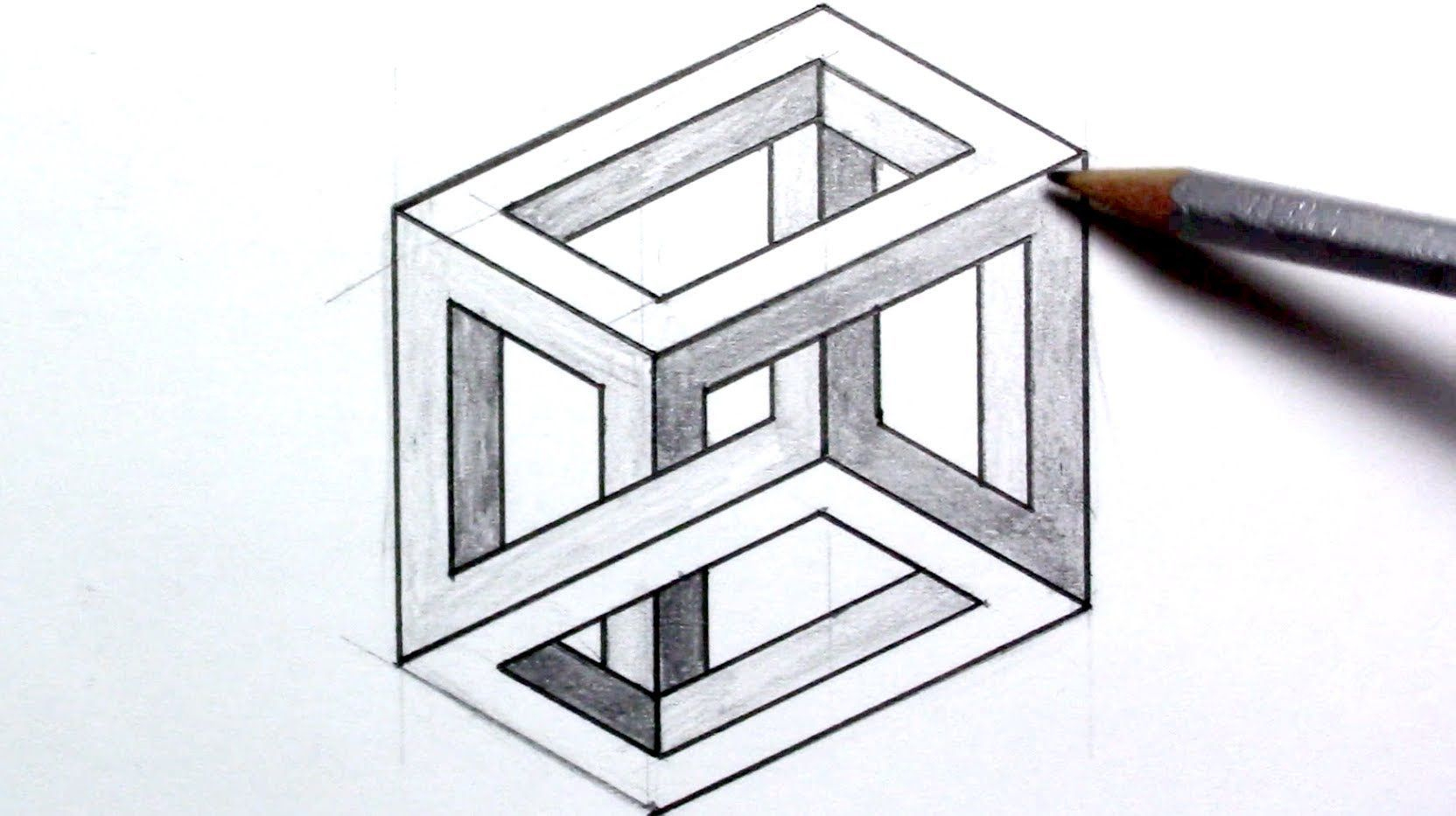 3D Illusion Drawing Easy How To Draw An Optical Illusion mit 3D Würfel Zeichnen