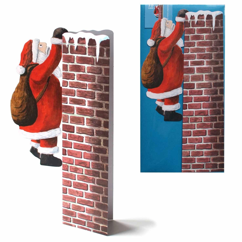 """3D-Weihnachtskarte """"nikolaus Am Kamin"""" in Nikolaus Grußkarte"""