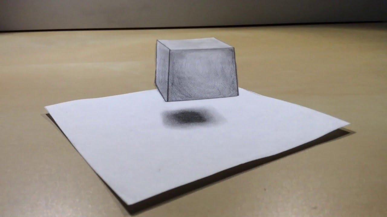 3D Würfel | Bleistiftzeichnung [Speed Drawing / 1080P Hd] in 3D Würfel Zeichnen