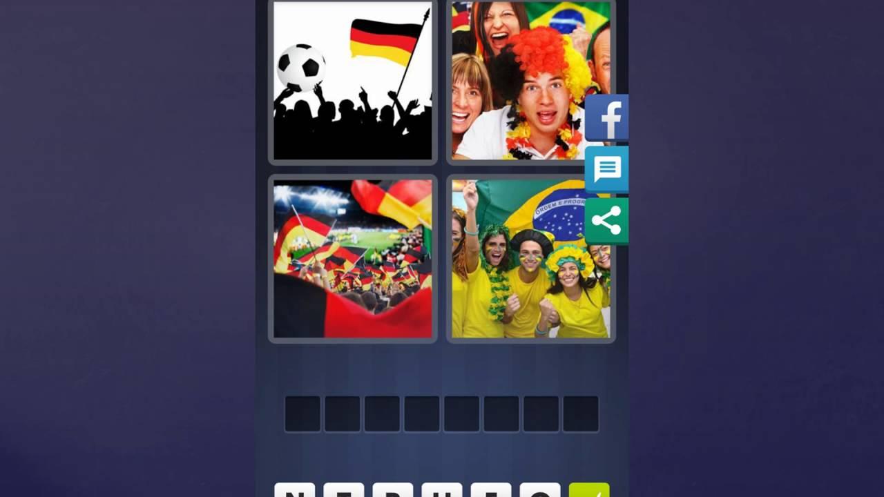 4 Bilder 1 Wort Lösung [Fußball + Flagge, Menschen, Flaggen, Menschen] verwandt mit 4 Bilder 1 Wort Fahnen