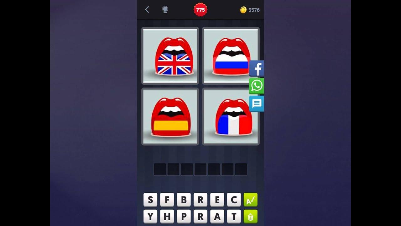 4 Bilder 1 Wort Lösung [Mund + Flagge, Mund + Flagge, Mund + Flagge, Mund +  Flagge] über 4 Bilder 1 Wort Fahnen