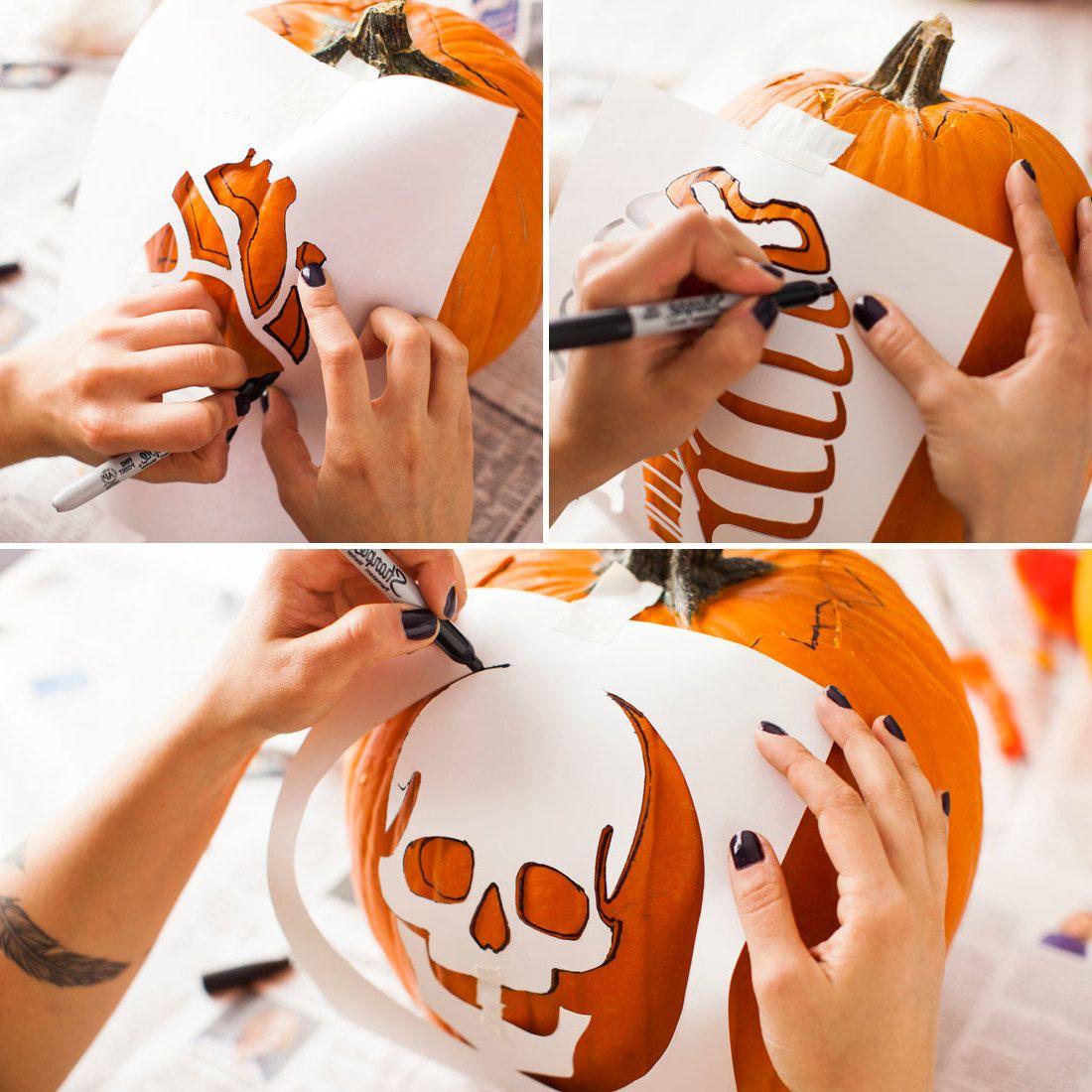 40 Kostenlose Kürbis Vorlagen Zum Ausdrucken + Schnitzen für Halloween Kürbis Vorlagen Zum Ausdrucken