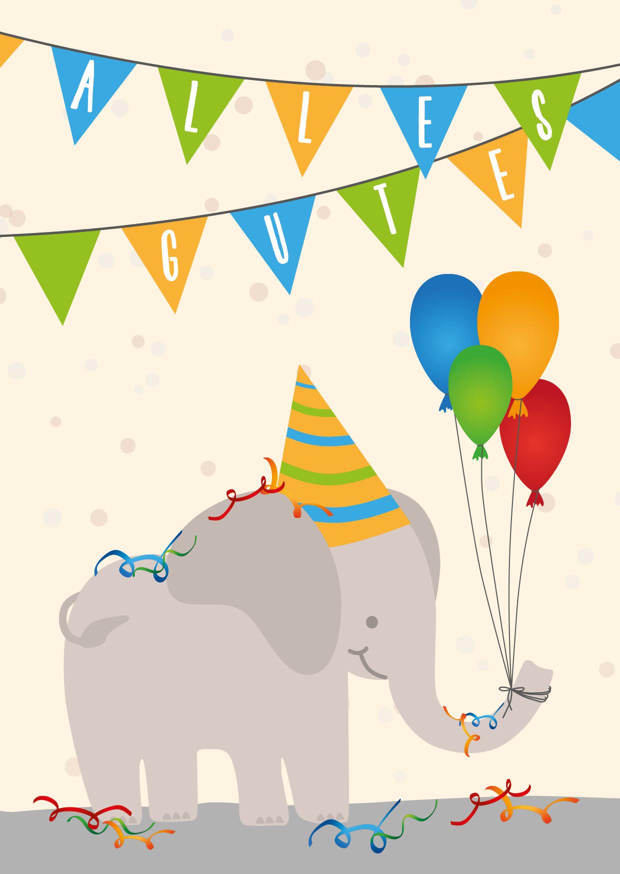 4Er Bundle Geburtstagskarten - Kinder für Geburtstagskarten Kindergeburtstag