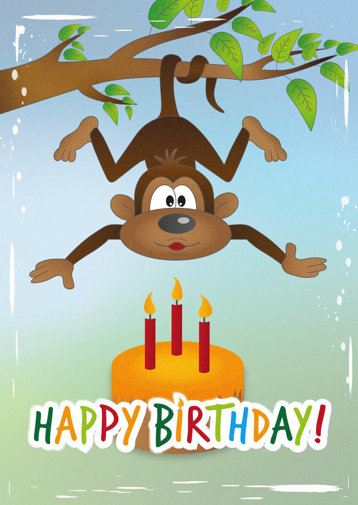 4Er Bundle Geburtstagskarten - Kinder innen Geburtstagskarten Kinder