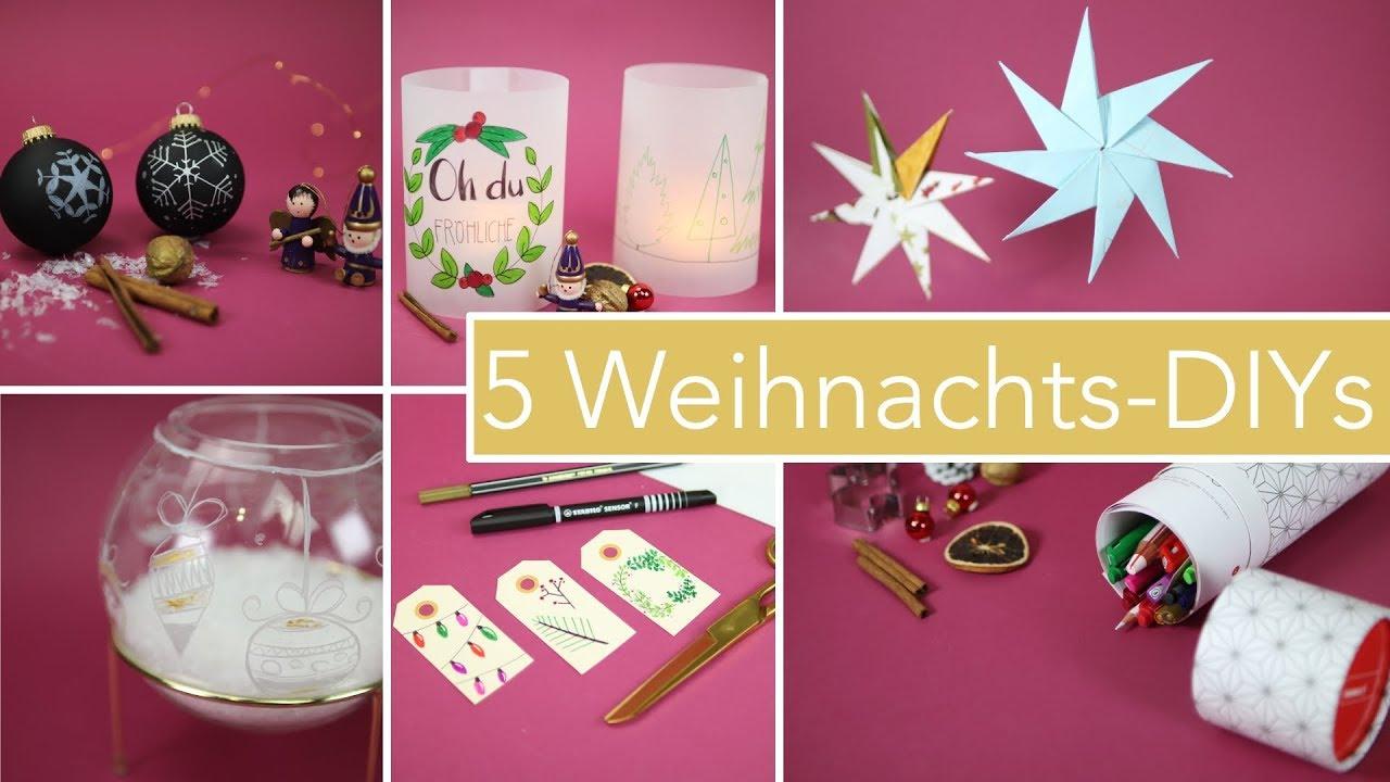 5 Diy Bastelideen Zu Weihnachten | Dekoration & Geschenke verwandt mit Bastelideen Für Weihnachten Zum Verschenken