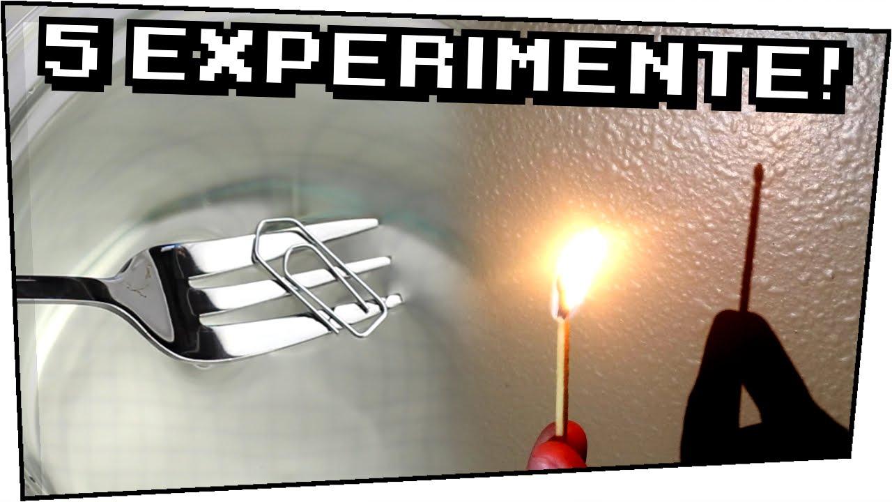 5 Experimente Zum Selber Machen - Heimexperimente #64 mit Experimente Mit Feuer Zum Nachmachen