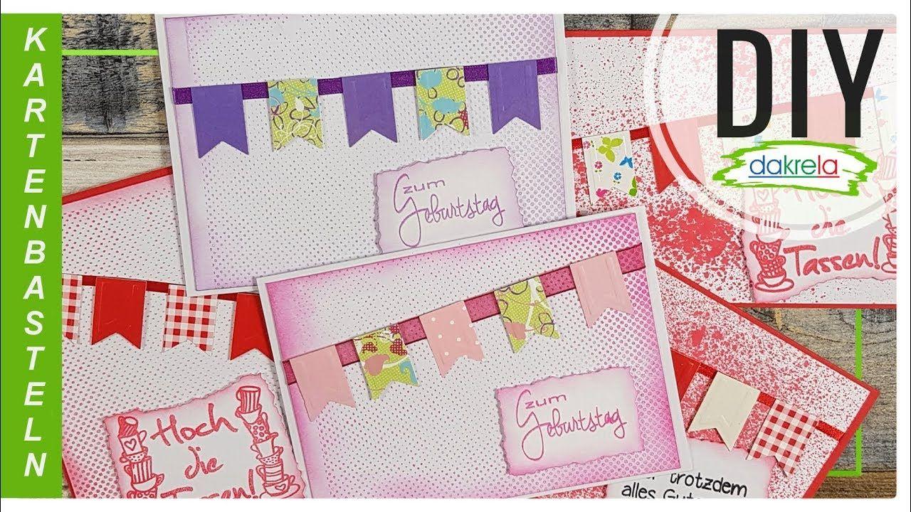 5 Grußkarten Flagge - 2 Techniken | Selber Basteln innen Grußkarten Selber Basteln