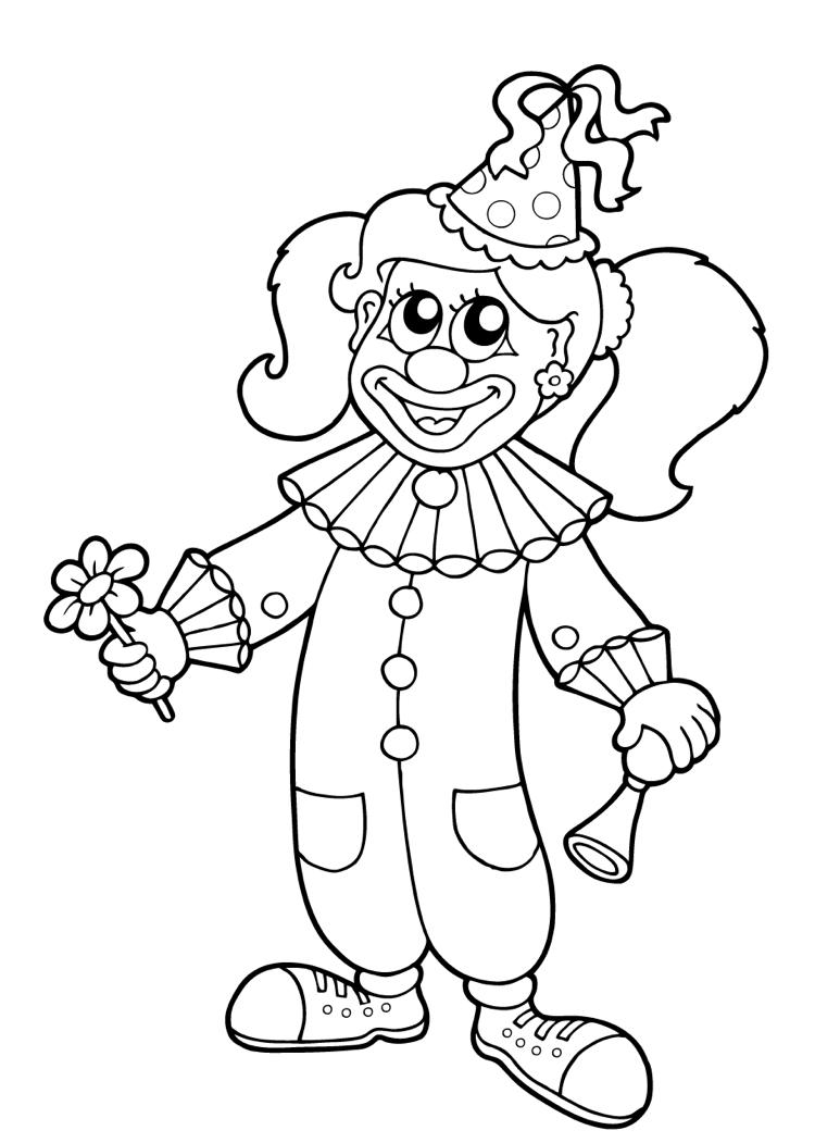 malvorlage clown  kinderbilderdownload  kinderbilder