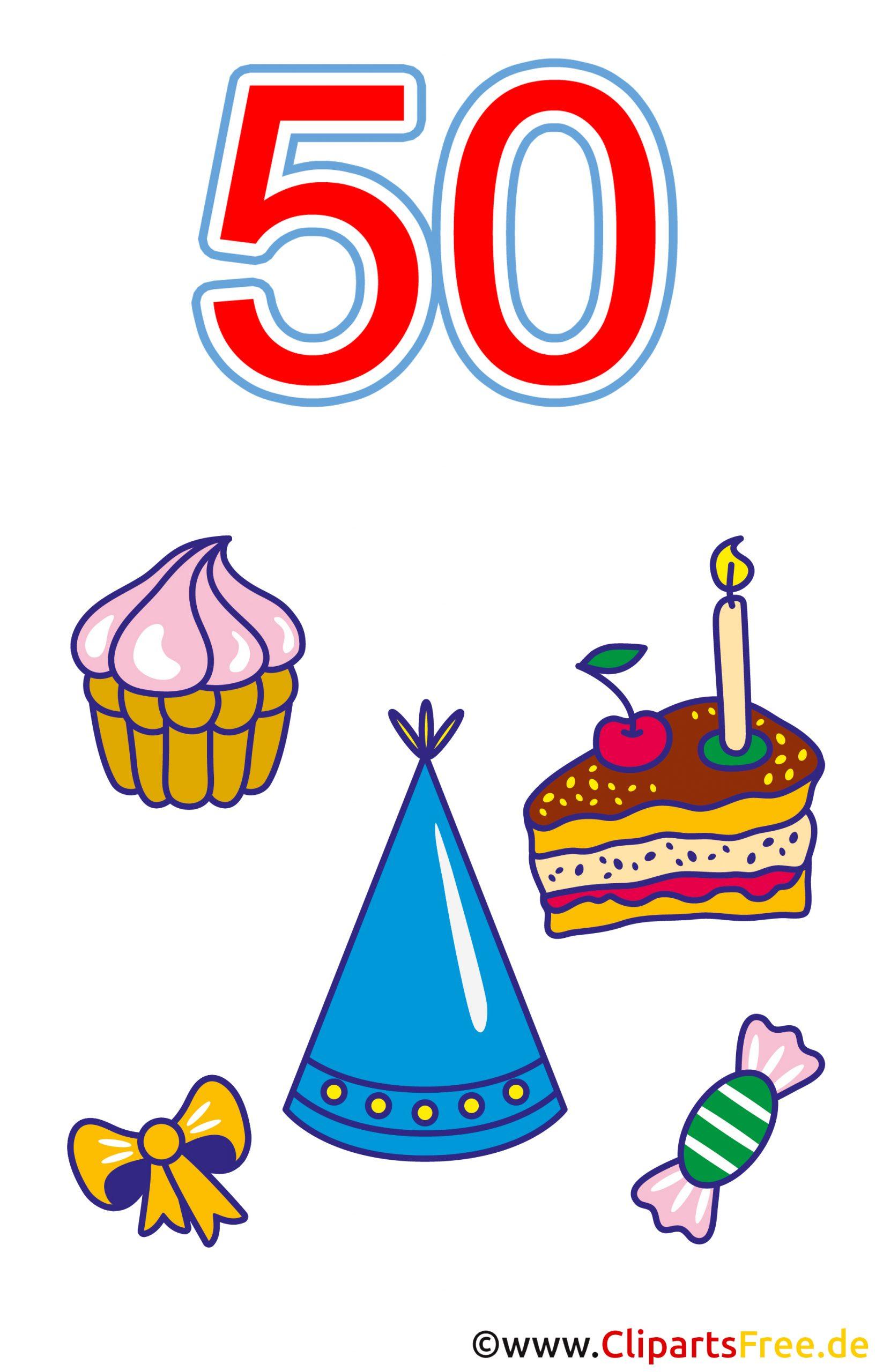 50 Geburtstag Clipart Kostenlos in Free Clipart Geburtstag