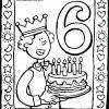 6. Geburtstag Mit Torte - Kiddimalseite verwandt mit Ausmalbild Torte