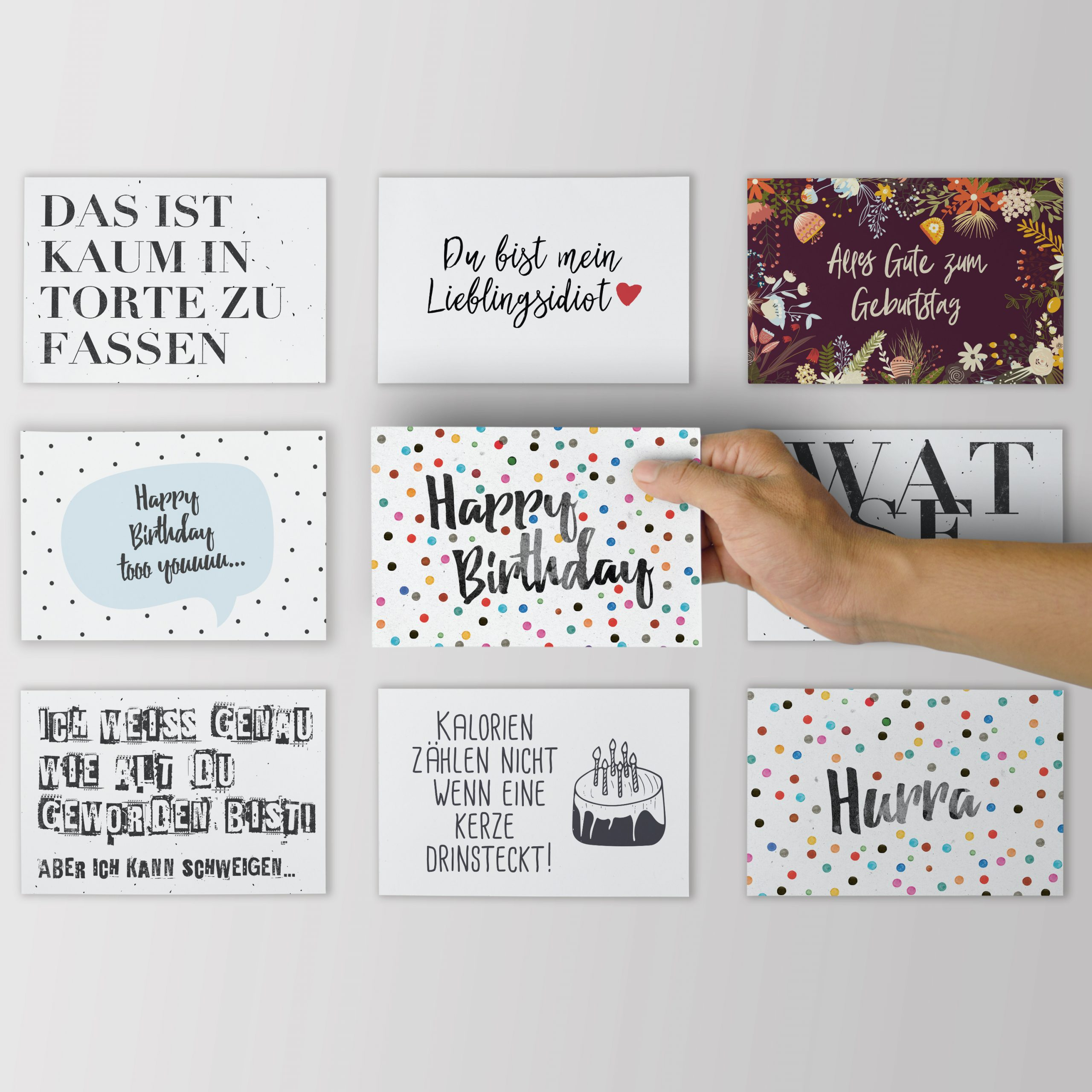 """6Er Set """"geburtstagskarten"""" für Geburtstagkarten"""