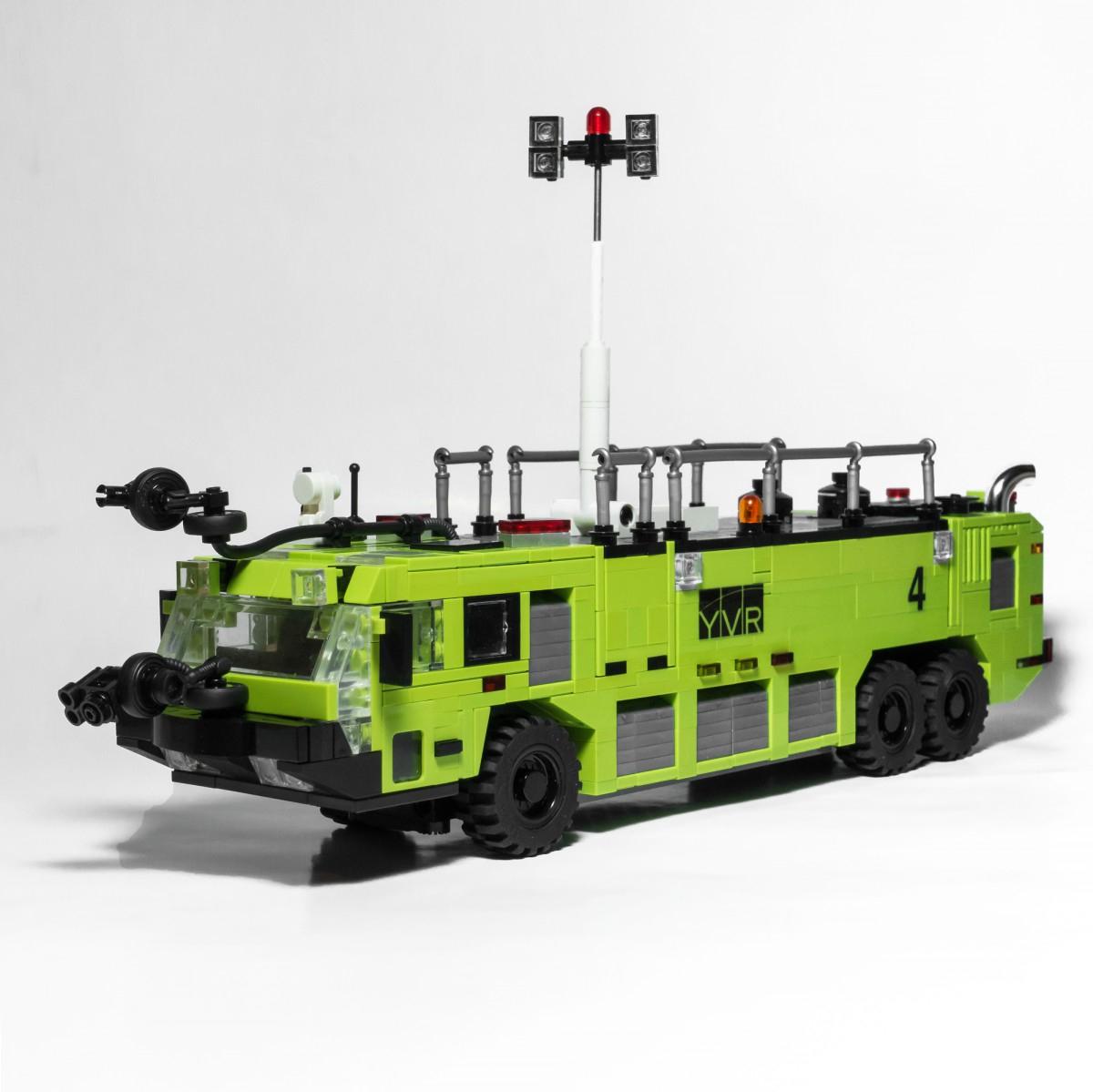 6X6 Flughafen Feuerwehr In Lime ?! :: Lego Bei 1000Steine.de über Lego Flughafenfeuerwehr
