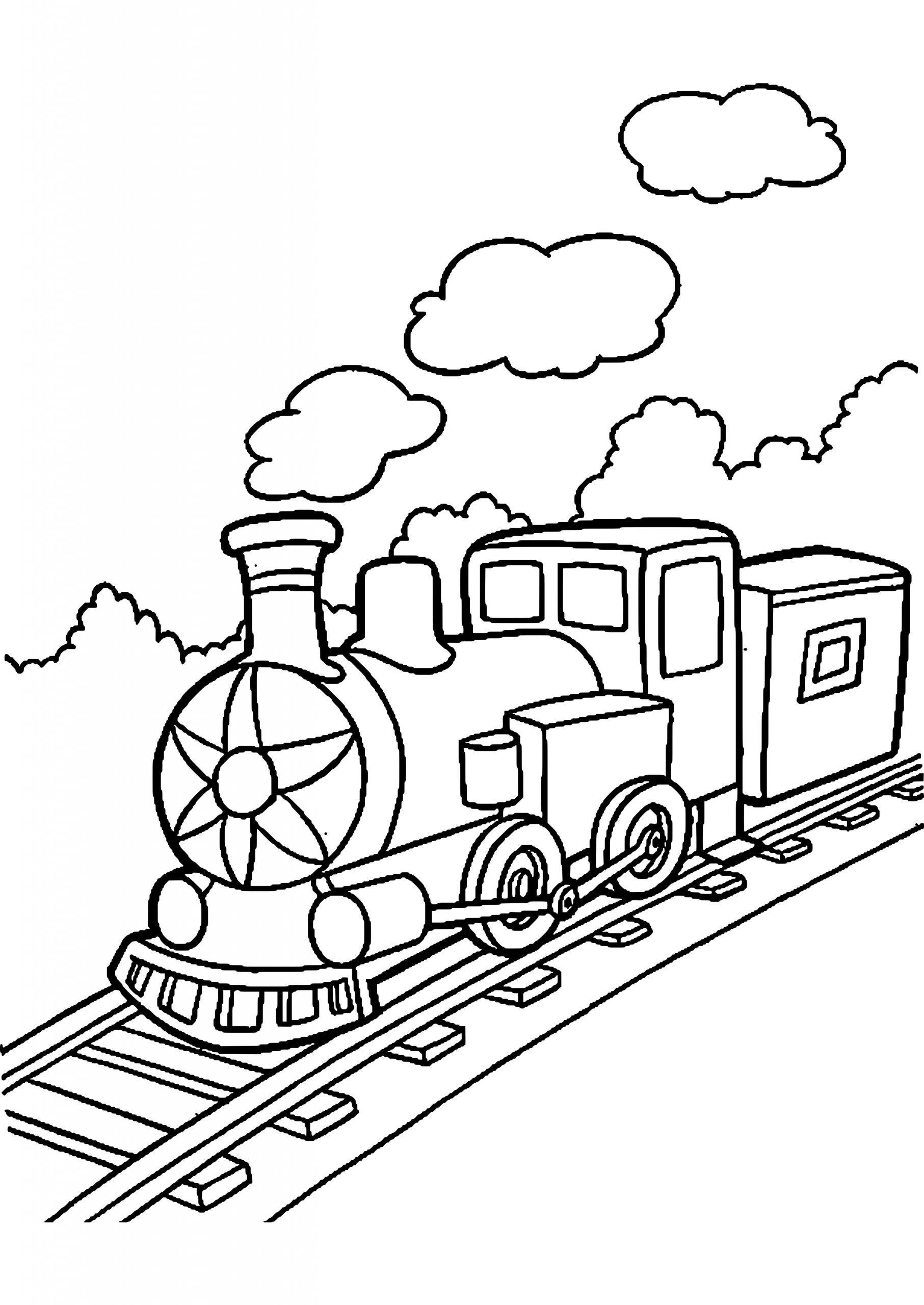 9 Beste Zug Ausmalbilder Kostenlos Zum Ausdrucken bei Eisenbahn Ausmalbilder