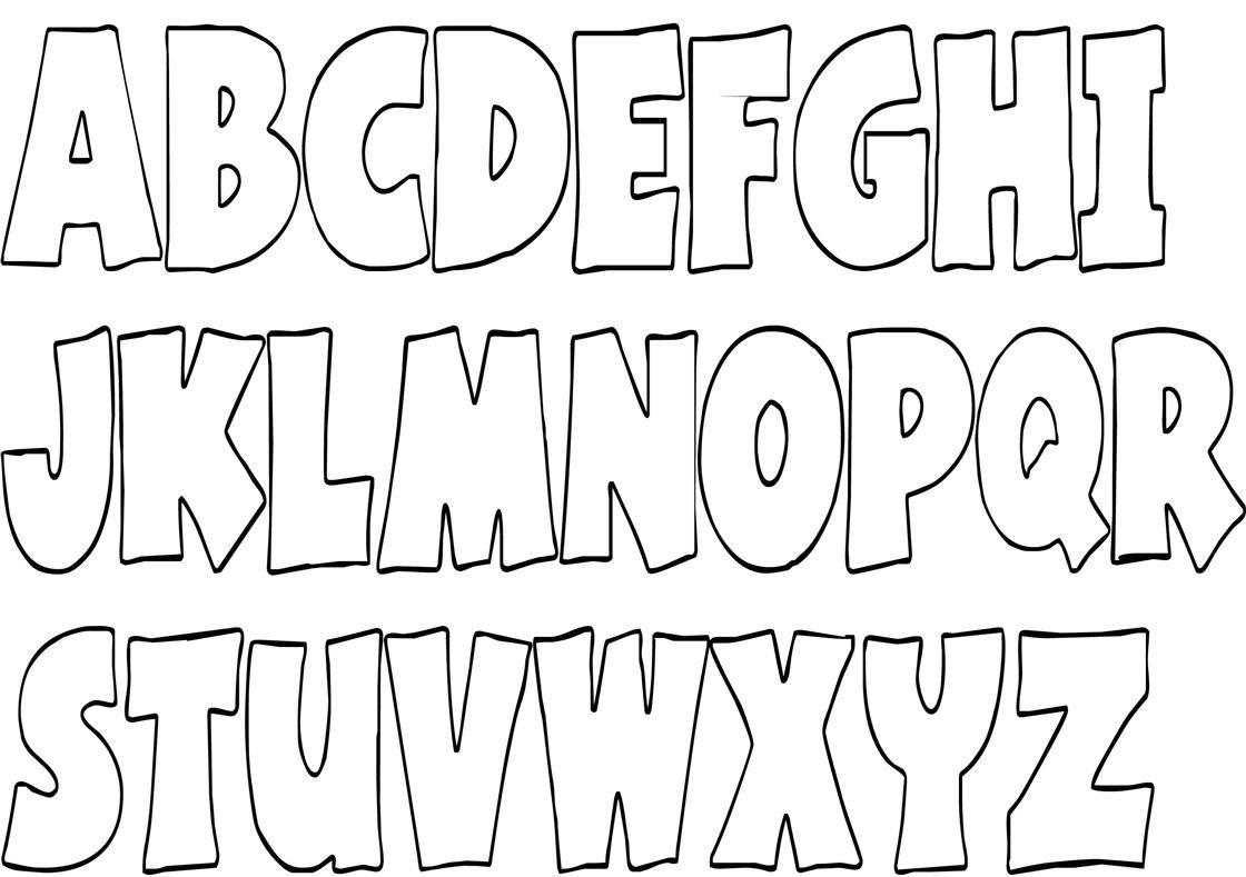 A B C Ausmalbilder A_B_C_Ausmalbilder_06 | Buchstaben für Graffiti Buchstaben Vorlagen A-Z