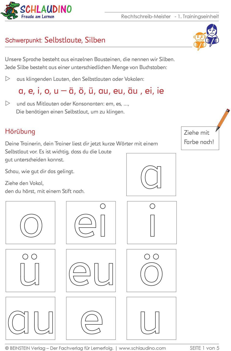 A, E, I, O, U Ä, Ö, Ü, Au, Eu, Äu, Ei, Ie - Pdf Free Download bei Wörter Die Mit Ü Beginnen