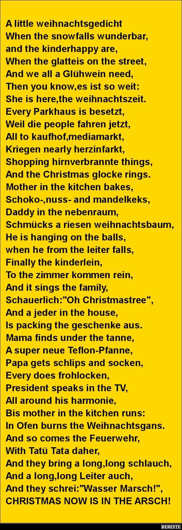 A Little Weihnachtsgedicht.. (Mit Bildern verwandt mit Lustige Und Kurze Weihnachtsgedichte