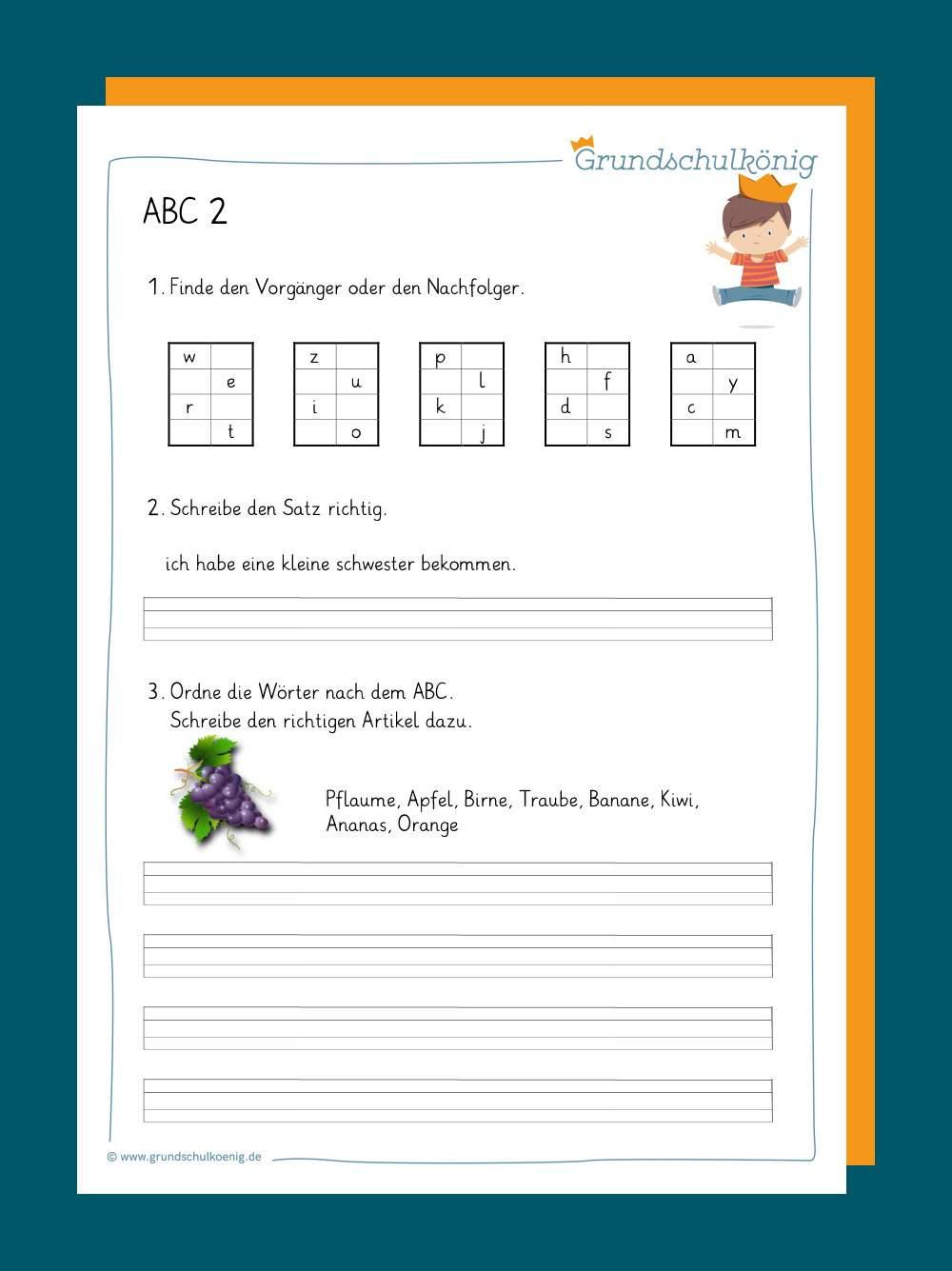 Abc / Alphabet Lernen innen Buchstaben Lernen Arbeitsblätter Kostenlos