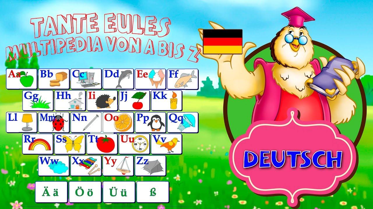 Abc - Alphabet Mit Tieren | Deutsch Lernen Für Kinder | Learn German über Abc Alphabet Deutsch