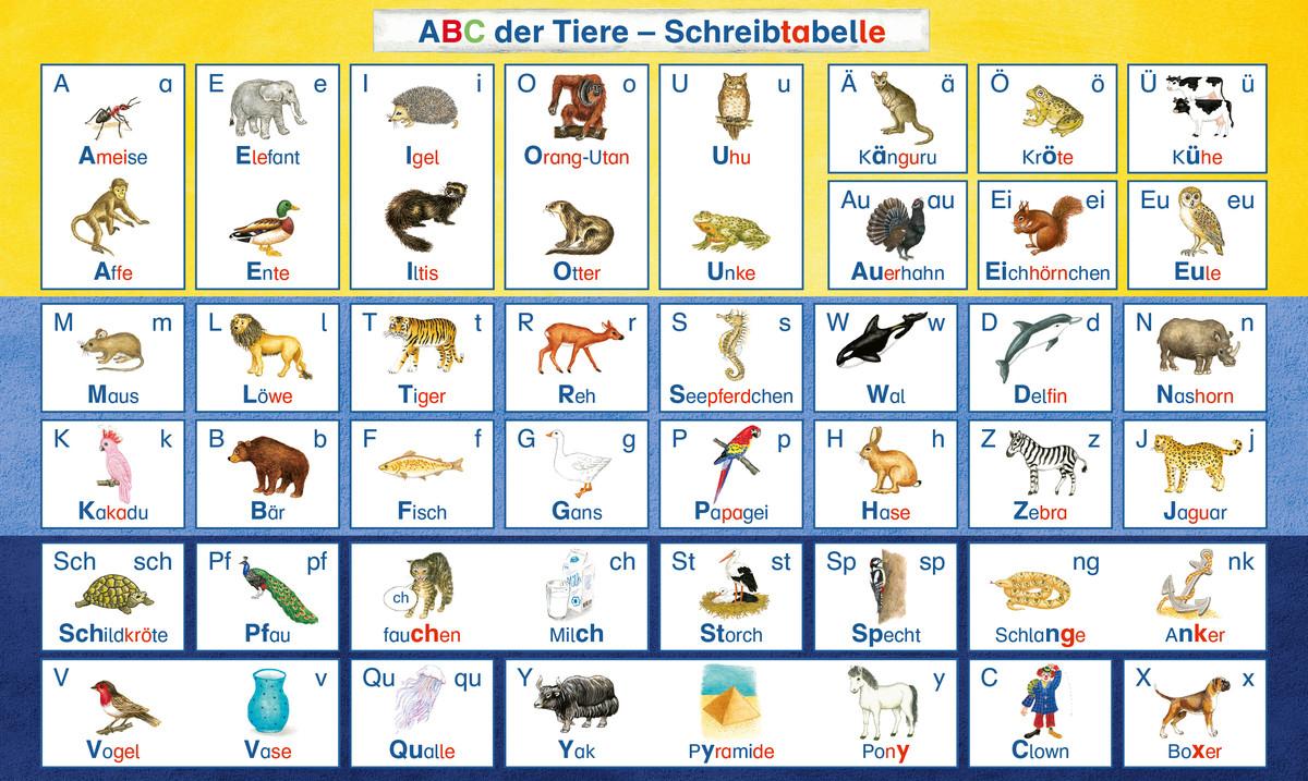Abc Der Tiere: Die Schreibtabelle In Der Silbenmethode über Tier Mit C Am Anfang