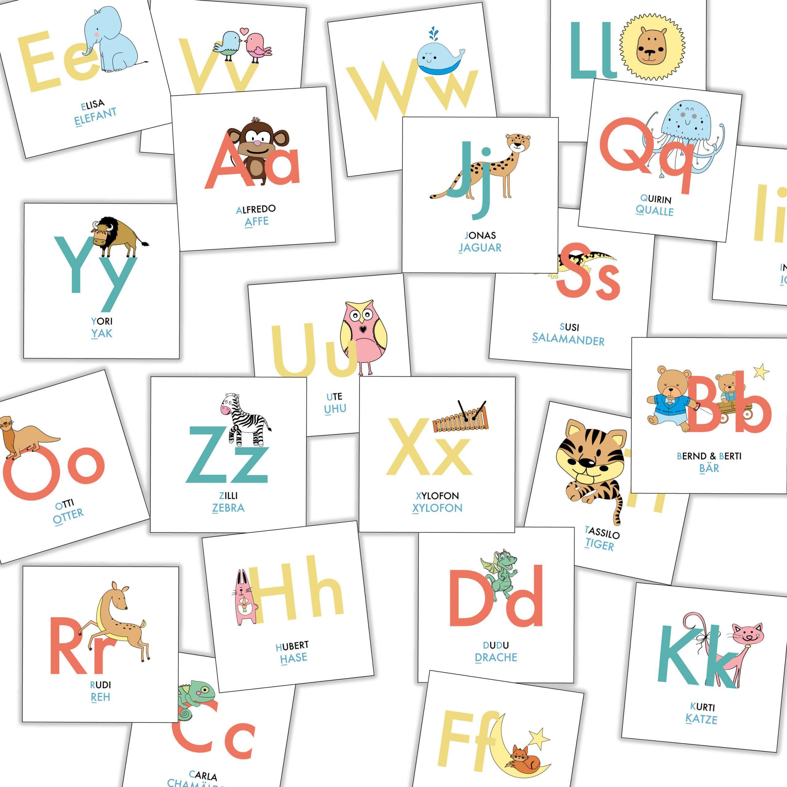 Abc Karten-Lernspiel für Buchstaben Lernen Für Vorschulkinder