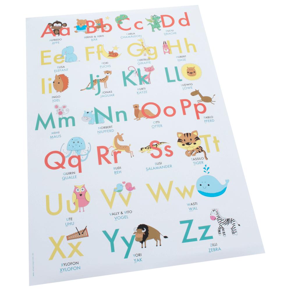 Abc-Lernposter Der Tiere mit Buchstaben Lernen Für Vorschulkinder